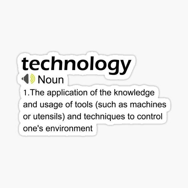 Funny Technology Definition Sticker