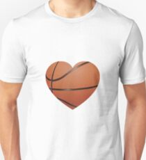 Camiseta unisex Corazón de baloncesto