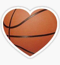 Pegatina Corazón de baloncesto