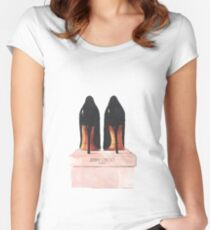Jimmy Choo Shoes Women's Fitted Scoop T-Shirt