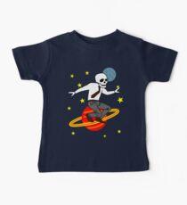 Space Office Skeleton Baby Tee