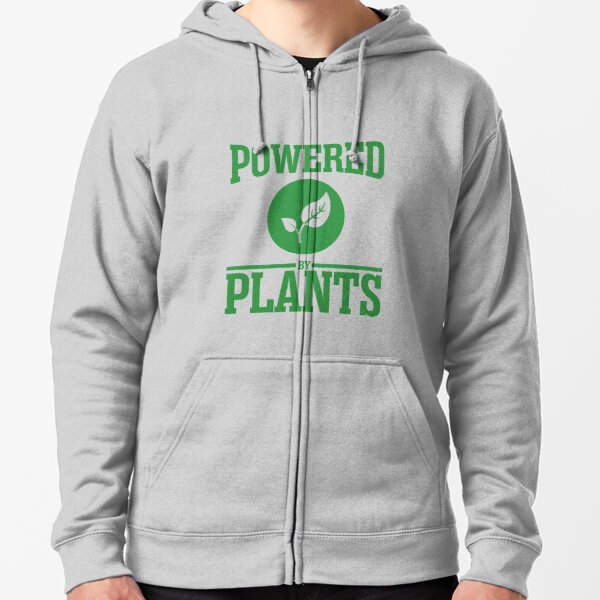 Powered by plants Zipped Hoodie