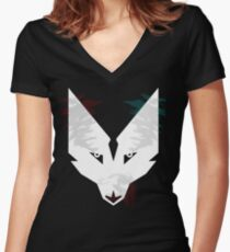 Lupine Solace Women's Fitted V-Neck T-Shirt