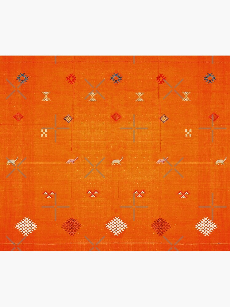 Orange Bohemian Oriental Traditional Berber Moroccan Style  by Arteresting