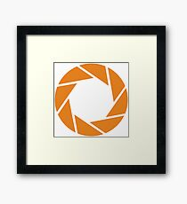 Aperture Science (Orange) Framed Print