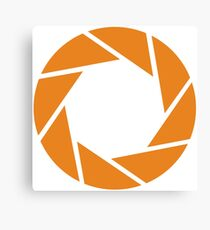 Aperture Science (Orange) Canvas Print