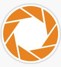 Aperture Science (Orange) Sticker