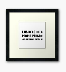 People Person Framed Print