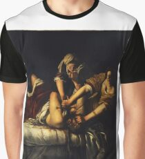 Judith Slaying Holofernes by Artemisia Gentileschi Graphic T-Shirt