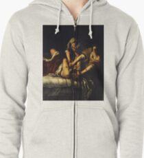Judith Slaying Holofernes by Artemisia Gentileschi Zipped Hoodie
