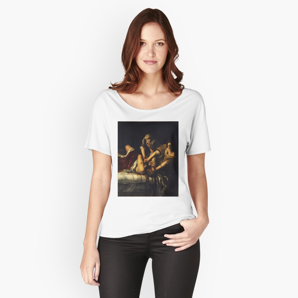 Judith Slaying Holofernes by Artemisia Gentileschi Women's Relaxed Fit T-Shirt Front