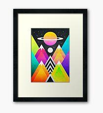 Saturn Peaks Framed Print
