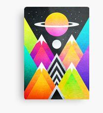 Saturn Peaks Metal Print