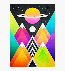 Saturn Peaks Photographic Print