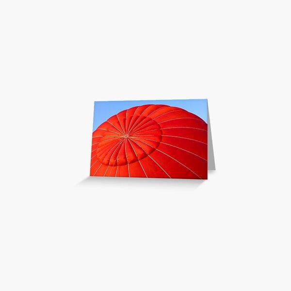 Puffy Red Hot Air Balloon Greeting Card