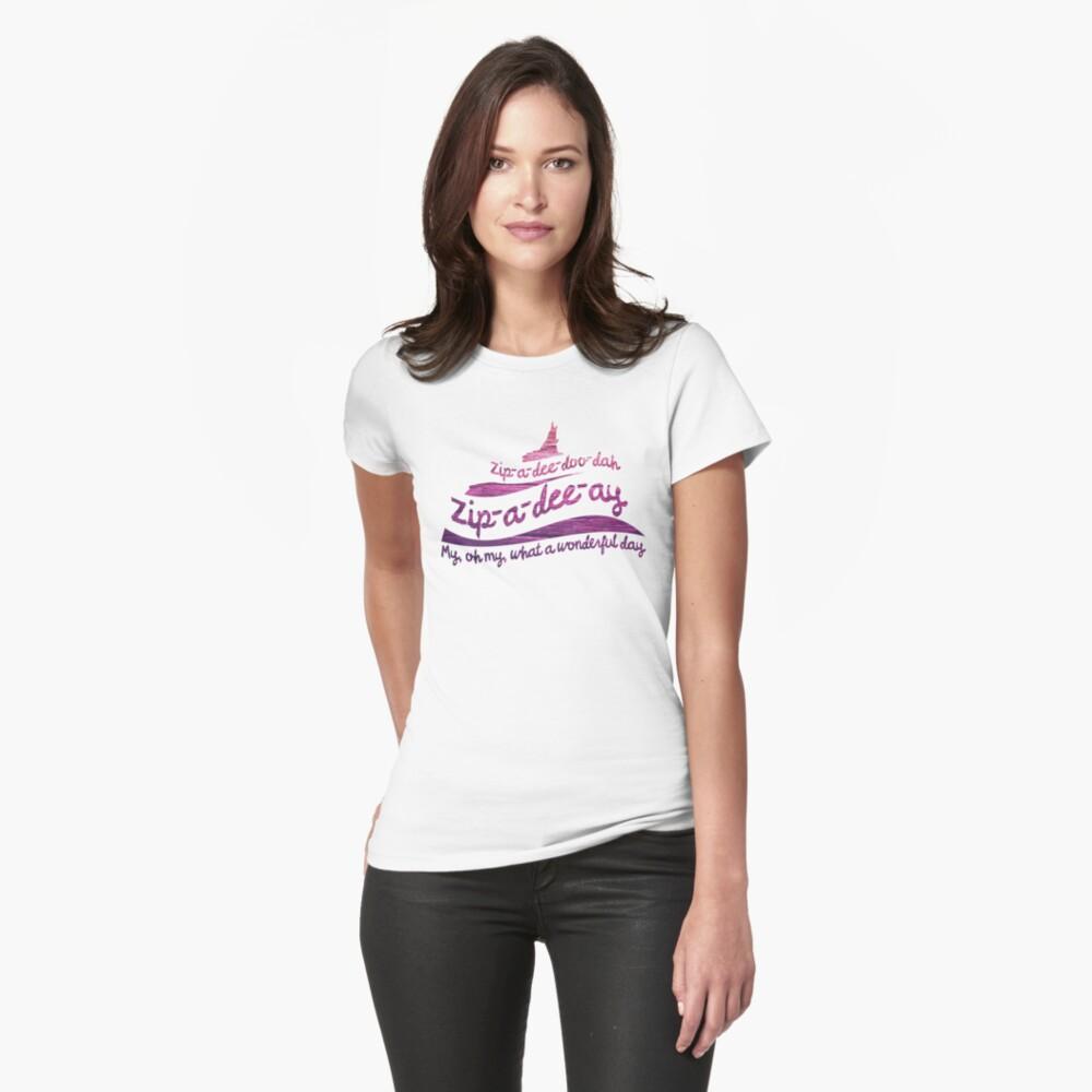 Zip-a-dee-doo-dah Fitted T-Shirt