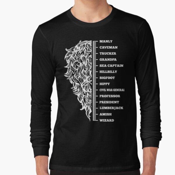 Beard menscale Long Sleeve T-Shirt