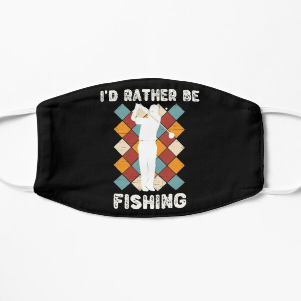 I'd Rather Be Fishing Funny Golf Holiday Gift Mask