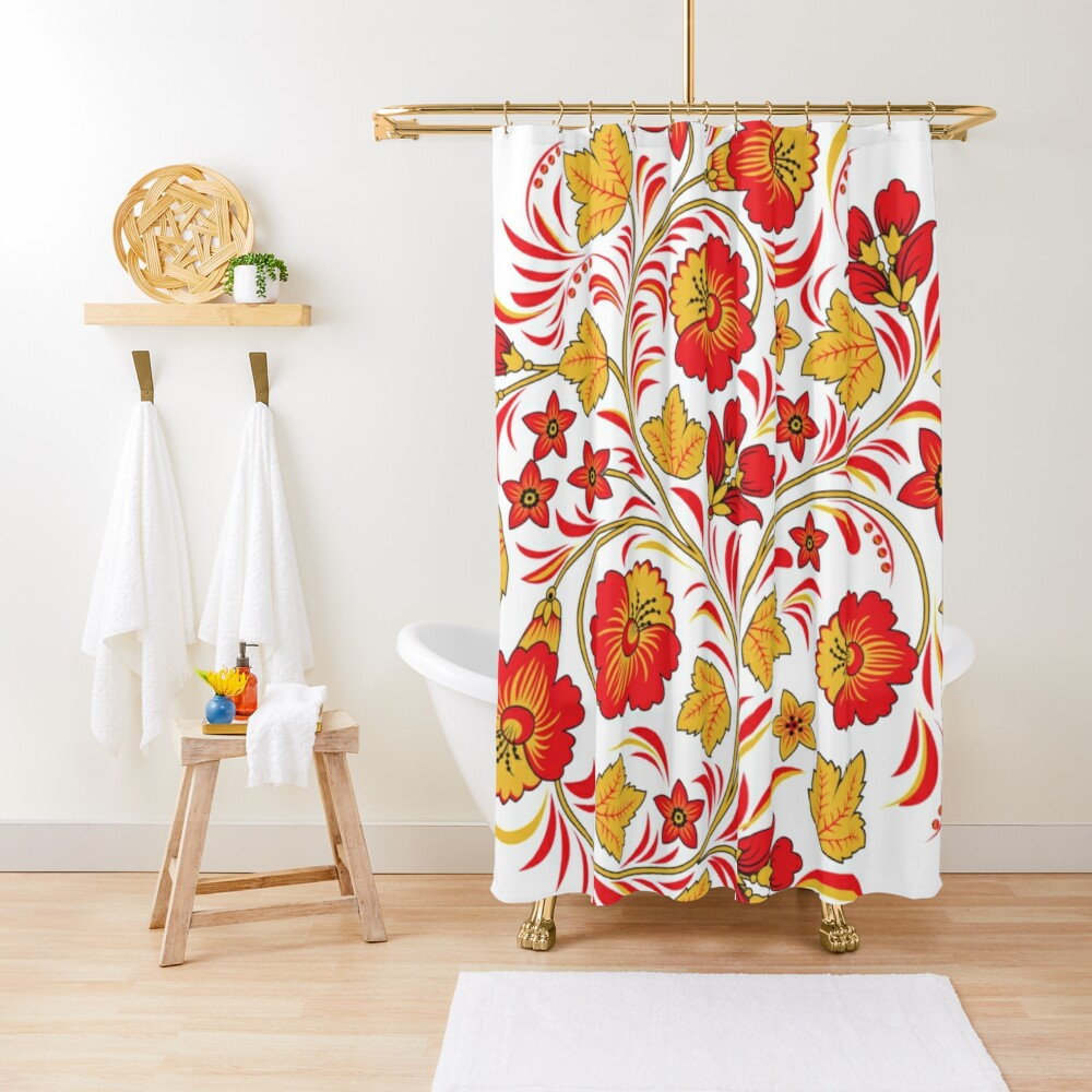 Patterns of the Russian North - Узоры русского севера Shower Curtain