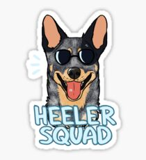 HEELER SQUAD (blue) Sticker