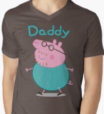 Daddy Pig Men's V-Neck T-Shirt