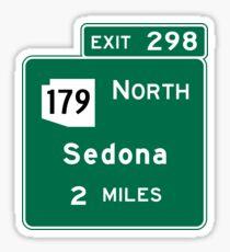 Sedona, AZ Road Sign, USA Sticker