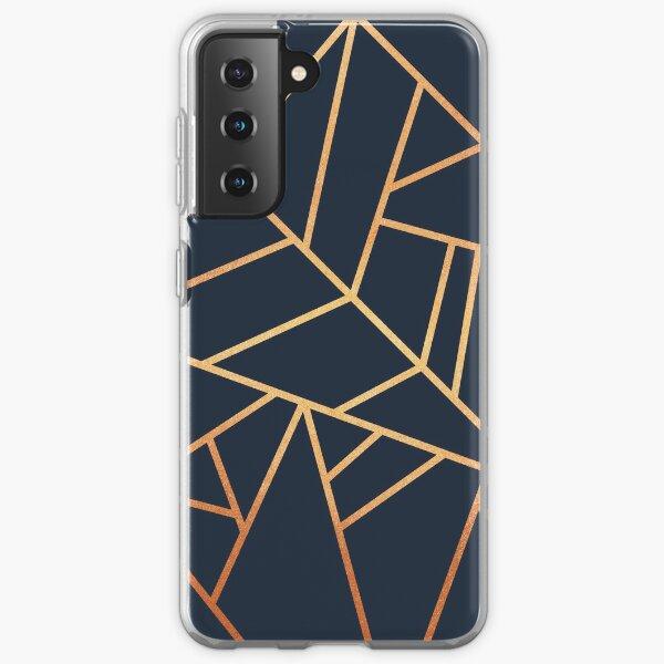Copper and Midnight Navy Samsung Galaxy Soft Case