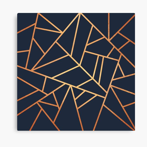 Copper and Midnight Navy Canvas Print