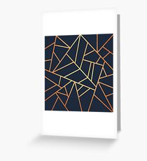 Copper and Midnight Navy Greeting Card