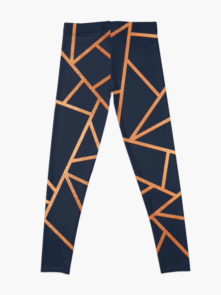 Alternate view of Copper and Midnight Navy Leggings