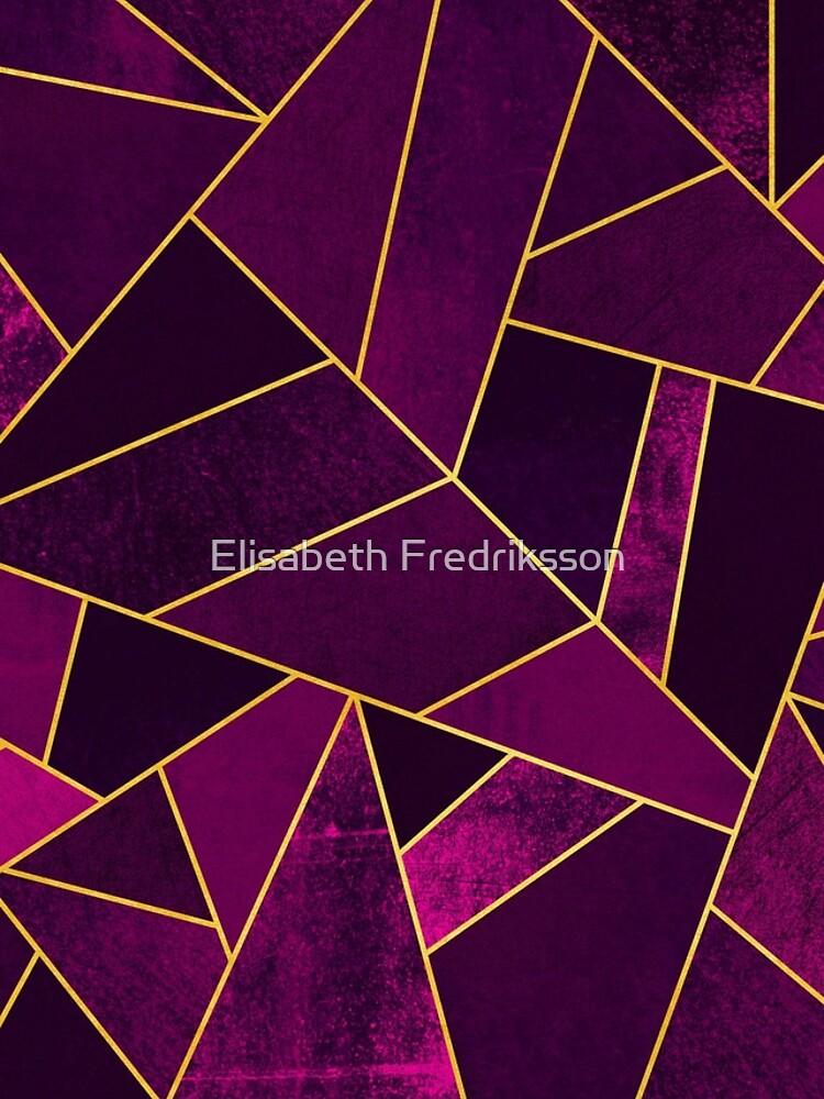 Purple Stone / Gold Lines by foto-ella