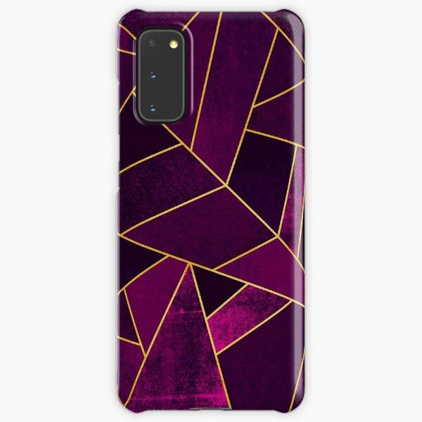 Purple Stone / Gold Lines Samsung Galaxy Snap Case
