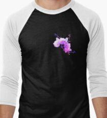 ink watercolour flower Men's Baseball ¾ T-Shirt