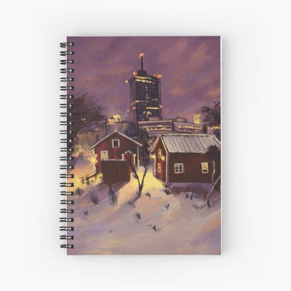 Winter Skyline Spiral Notebook