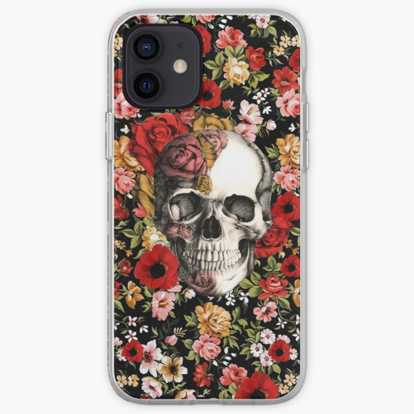 In bloom floral skull iPhone Soft Case