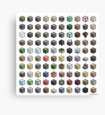 100 Minecraft Blocks Canvas Print