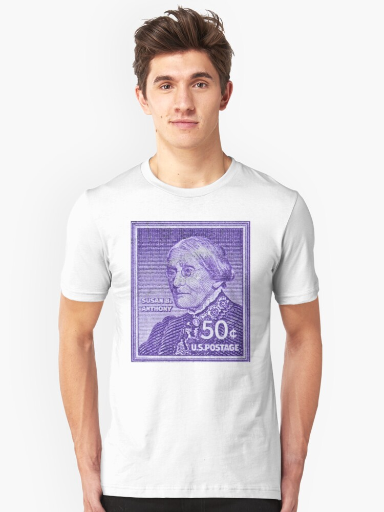 1954 1961 Susan B Anthony Stamp Unisex T Shirt Front
