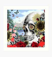 Nature skull landscape Art Print