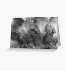 ink style of black watercolour texture Greeting Card