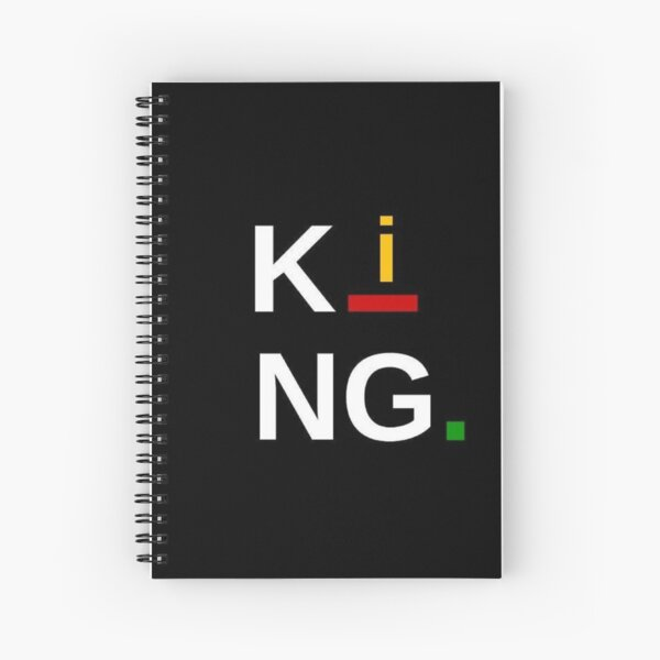 King Afrocentric Accessories by AndHerStory Spiral Notebook