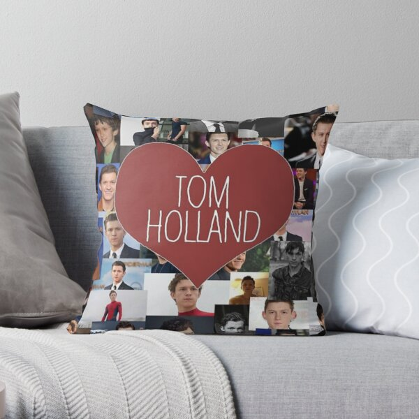 tom holland blanket/stickers Throw Pillow