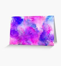 ink style of purple watercolour texture Greeting Card