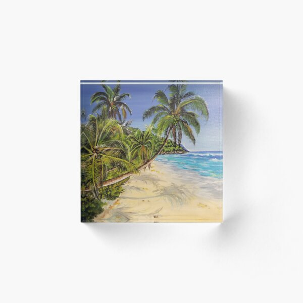 Beach Acrylic Block