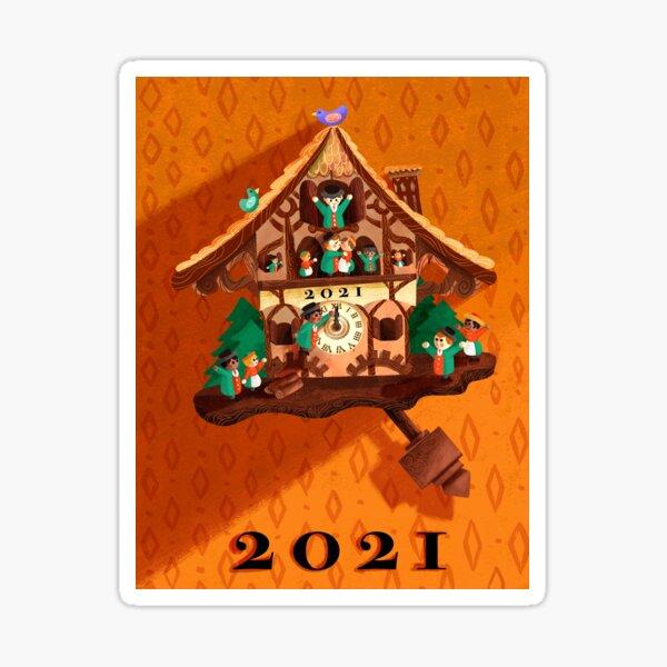 The Clock Strikes 2021 Sticker