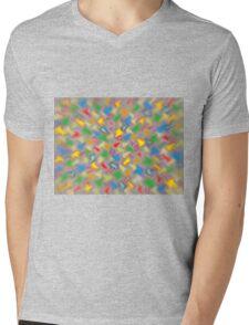 Brush Strokes Mens V-Neck T-Shirt