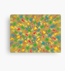 Warm Brush Strokes Canvas Print