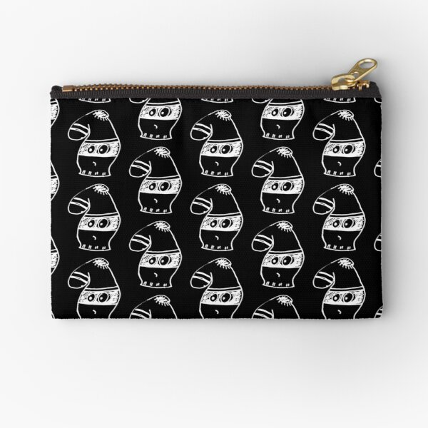 Young Criminal Halloween costume (white on black) Zipper Pouch