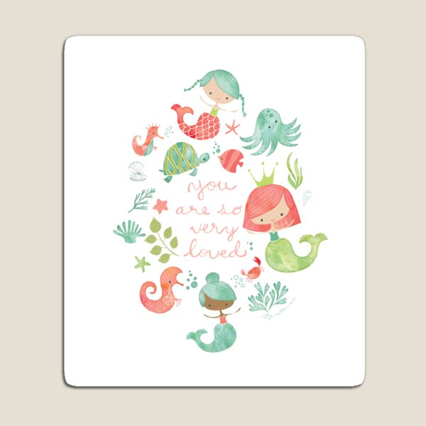 Under the Sea Mermaids Magnet