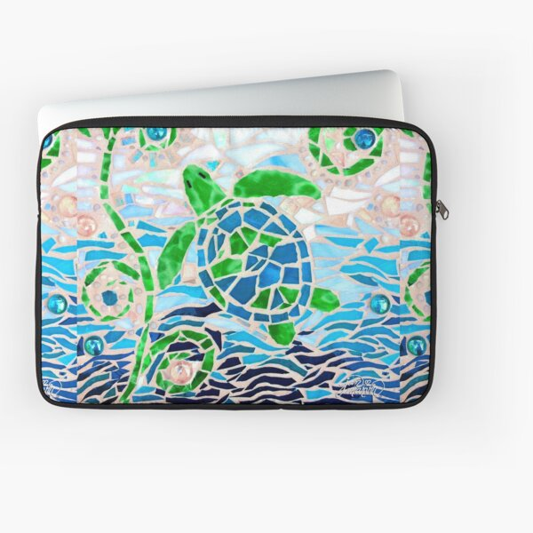 Turtle Mosaic Turquoise Laptop Sleeve