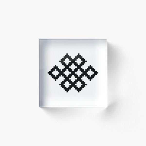 Karma Knot Pattern Acrylic Block